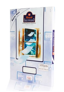 Bilt royal executive bond paper aquas blue 100gsm km Blue bond paper